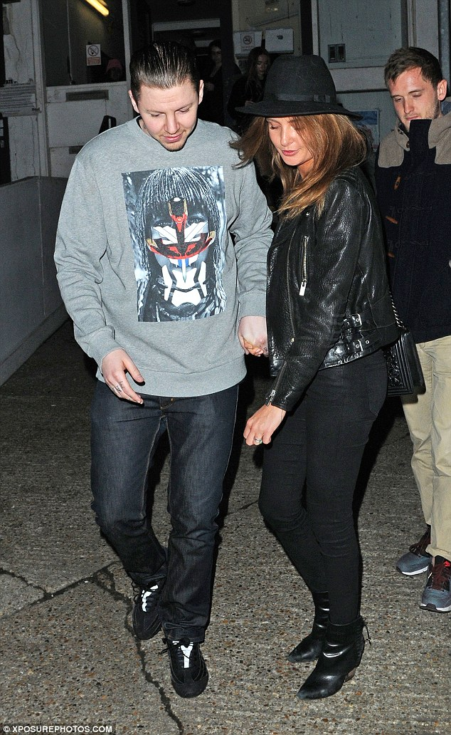 Date night: Professor Green and Millie Mackintosh visited Hawker House street food market in Dalston, London on Saturday
