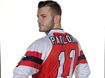 Jack Wilshere wears one of Ray Parlour's old Arsenal shirts