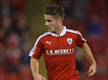 BARNSLEY, ENGLAND - AUGUST 26:  Dan Crowley of Barnsley in action during the Capital One Cup Second Round match between Barnsley and Everton at Oakwell Stadium on August 26, 2015 in Barnsley, England.  (Photo by Michael Regan/Getty Images)