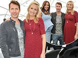 JAMES BLUNTS WIFE DISPLAYS BUMP WITH KYLY & MICHAEL CLARKE AT LOYAL SPORTSMAN LUNCH