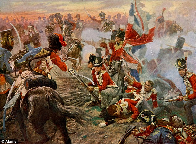 This painting by Verker captures the moment Wellington's Anglo-Dutch army clashed with the FRench