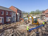 Construction of a new housing estate in Birmingham. (Photo by: Loop Images/UIG via Getty Images)