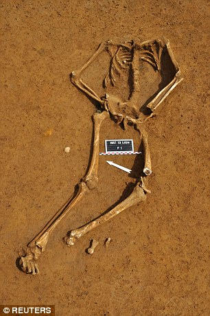 The remains of Friedrich Branft, 22, make the first complete skeleton to be recovered from the battle of Waterloo 200 years ago