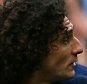 SUNDERLAND, ENGLAND - OCTOBER 25 :  Fabricio Coloccini of Newcastle is sent off by referee Mr R Maley for a foul on Steven Fletcher of Sunderland during the Barclays Premier League match between Sunderland AFC and Newcastle United FC at the Stadium of Light on October 25, 2015 in Sunderland, United Kingdom. (Photo by Mark Runnacles/Getty Images)