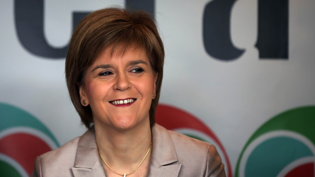 """First Minister Nicola Sturgeon said claims she would rather see David Cameron stay as Prime Minister as """"100% untrue'"""