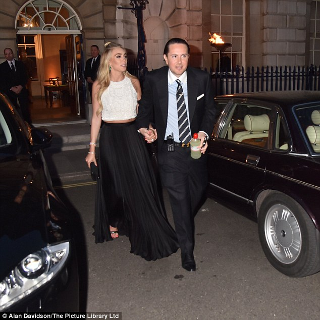 Social scene: The Formula One heiress was accompanied by her own billionaire beau, businessman James Stunt