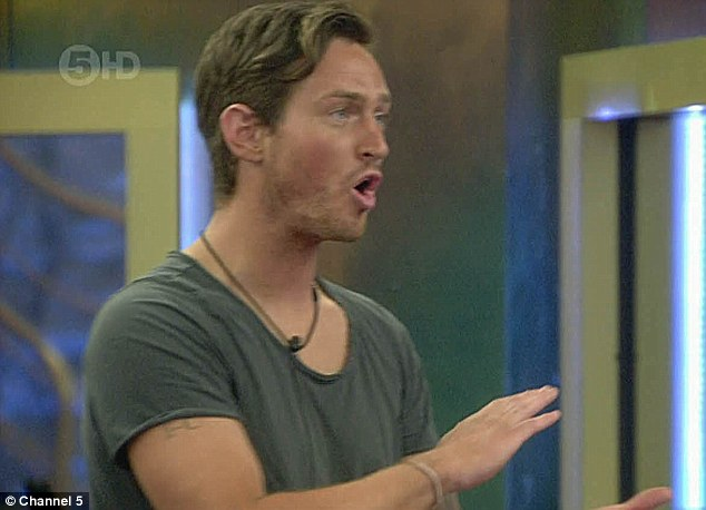 Losing his cool: Danny shouted at Chloe, implying she was a hypocrite for previously claiming the most important thing was to boost the winner's cash prize