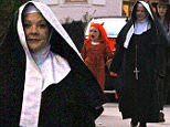 EXCLUSIVE: Melissa McCarthy and husband Ben Falcone took their kids Trick or Treating on Halloween night in their Toluca Lake neighborhood. Melissa McCarthy was dressed in a nun costume. Husband Ben Falcone was dressed as a priest. \n\nPictured: Melissa McCarthy\nRef: SPL1159103  311015   EXCLUSIVE\nPicture by: Boggs / Splash News\n\nSplash News and Pictures\nLos Angeles: 310-821-2666\nNew York: 212-619-2666\nLondon: 870-934-2666\nphotodesk@splashnews.com\n