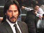 144391, First look at Keanu Reeves reprising his role as hit-man character John Wick while filming for 'John Wick 2' at a bar in Manhattan. Keanu can be seen in action with blood, cuts and bruises as he takes down Asian bad guys with a pencil. New York, New York - Friday October 30, 2015. Photograph: LGjr-RG, © PacificCoastNews. Los Angeles Office: +1 310.822.0419 sales@pacificcoastnews.com FEE MUST BE AGREED PRIOR TO USAGE