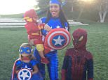 Kourtney Kardashian Oct 31 The Mighty Avengers.