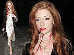 celebrity guests arriving at Jonathan Ross annual halloween party london  Pictured: Nicola Roberts Ref: SPL1166166  311015   Picture by: JJ / RV / Splash News  Splash News and Pictures Los Angeles: 310-821-2666 New York: 212-619-2666 London: 870-934-2666 photodesk@splashnews.com