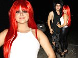 **NO Australia, New Zealand** Hollywood, CA - Ariel winter wears a red wig along with boyfriend Laurent Claude for a Halloween party at No Vacancy nightclub.  Lets not forget Ariel is still seventeen years old, perhaps she used her Hollywood status to get into the club tonight.\nAKM-GSI           October 31, 2015\n**NO Australia, New Zealand**\nTo License These Photos, Please Contact :\n \n Steve Ginsburg\n (310) 505-8447\n (323) 423-9397\n steve@akmgsi.com\n sales@akmgsi.com\n \n or\n \n Maria Buda\n (917) 242-1505\n mbuda@akmgsi.com\n ginsburgspalyinc@gmail.com