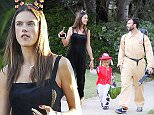 Picture Shows: Anja Ambrosio Mazur, Noah Ambrosio Mazur, Alessandra Ambrosio, Jamie Mazur  October 31, 2015\n \n Model Alessandra Ambrosio and her partner Jamie Mazur take their children Anja and Noah trick-or-treating in Los Angeles, California.\n \n Non Exclusive\n UK RIGHTS ONLY\n \n Pictures by : FameFlynet UK © 2015\n Tel : +44 (0)20 3551 5049\n Email : info@fameflynet.uk.com
