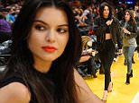 LOS ANGELES, CA - NOVEMBER 01:  Kendall Jenner attends a basketball game between the Dallas Mavericks and the Los Angeles Lakers at Staples Center on November 1, 2015 in Los Angeles, California.  (Photo by Noel Vasquez/GC Images)