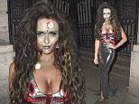 31 Oct 2015 - MANCHESTER - UK  CHARLOTTE DAWSON HEADS OUT IN MANCHESTER AND LEAVES THE PALACE HOTEL WITH A FRIEND DRESSED UP FOR HALLOWEEN!  BYLINE MUST READ : XPOSUREPHOTOS.COM  ***UK CLIENTS - PICTURES CONTAINING CHILDREN PLEASE PIXELATE FACE PRIOR TO PUBLICATION ***  **UK CLIENTS MUST CALL PRIOR TO TV OR ONLINE USAGE PLEASE TELEPHONE   44 208 344 2007 **