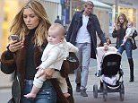1 NOV 2015 - LONDON - UK *** EXCLUSIVE ALLROUND PICTURES *** ** STRICTLY NOT AVAILABLE FOR MAIL ONLINE AND ANY ONLINE SUBSCRIPTION DEALS UNLESS FEE AGREED PRIOR TO USAGE*** EX ENGLAND FOOTBALLER PETER CROUCH AND WIFE ABBEY CROUCH PICTURED SPENDING THEIR SUNDAY AFTERNOON SHOPPING IN WEST LONDON, THE HAPPY FAMILY WERE SEEN ENJOYING A STROLL TOGETHER BUT GOT A TICKET ON RETURNING TO THEIR CAR AFTER SPENDING TOO MUCH TIME IN A WOMANS FASHION SHOP AFTER OVERSTAYING FOR 40 MINUTES. BYLINE MUST READ : XPOSUREPHOTOS.COM ***UK CLIENTS - PICTURES CONTAINING CHILDREN PLEASE PIXELATE FACE PRIOR TO PUBLICATION *** **UK CLIENTS MUST CALL PRIOR TO TV OR ONLINE USAGE PLEASE TELEPHONE 44 208 344 2007**