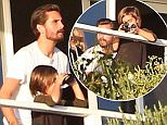 Please contact X17 before any use of these exclusive photos - x17@x17agency.com   Scott Disick gets a visit from his kids in rehab while Kourtney waits. November 1, 2015. X17online.com
