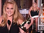 BEVERLY HILLS, CA - NOVEMBER 01:  Honoree Amy Schumer accepts the Hollywood Comedy Award for Trainwreck onstage during the 19th Annual Hollywood Film Awards at The Beverly Hilton Hotel on November 1, 2015 in Beverly Hills, California.  (Photo by Kevin Winter/Getty Images)