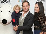 NEW YORK, NY - NOVEMBER 01:  (L-R) Snoopy, Noah Rev Maurer, Josh Lucas and Jessica Ciencin Henriquez attend the Peanuts movie and Build-A-Bear Workshop special screening at Crosby Street Hotel on November 1, 2015 in New York City.  (Photo by Neilson Barnard/Getty Images)