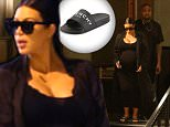 Please contact X17 before any use of these exclusive photos - x17@x17agency.com   Kim and Kanye double date with Kris and Corey having dinner at Bandera. Kim looks like she could have her baby any day. All four are dressed in black.  November 1, 2015. X17online.com