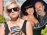 Beverly Hills, CA - English performer Lily Allen walks the streets of Beverly Hills after a quick visit to trendy spa Anastasia. AKM-GSI     October 29, 2015 To License These Photos, Please Contact : Steve Ginsburg (310) 505-8447 (323) 423-9397 steve@akmgsi.com sales@akmgsi.com or Maria Buda (917) 242-1505 mbuda@akmgsi.com ginsburgspalyinc@gmail.com