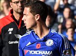 Chelsea FC via Press Association Images MINIMUM FEE 40GBP PER IMAGE - CONTACT PRESS ASSOCIATION IMAGES FOR FURTHER INFORMATION. Chelsea manager Jose Mourinho (centre) talks with Chelsea's Eden Hazard (right) on the touchline