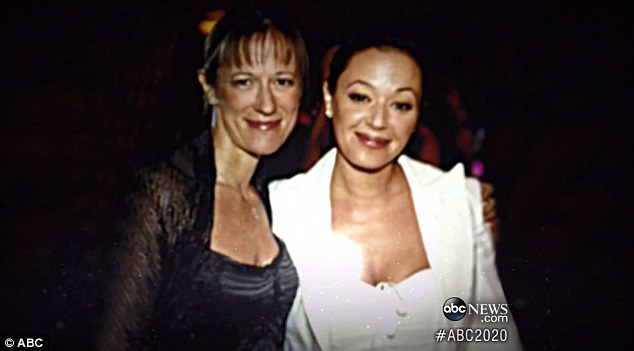 Remini with Shelly Miscavige, the wife of Scientology leader David Miscavige