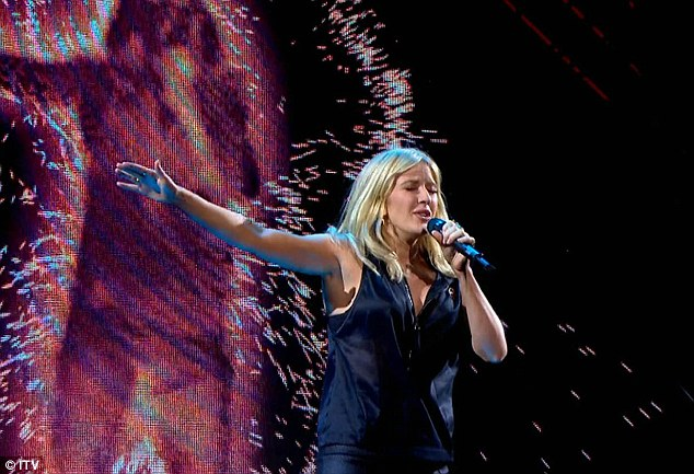 Bundle of energy: Ellie Goulding bounded around the stage singing new track On My Mind
