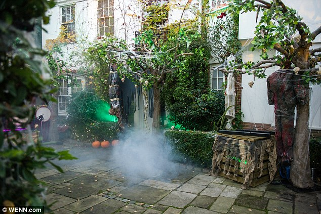 Haunted house: Jonathan's family home in Hampstead had earlier been transformed for the bash