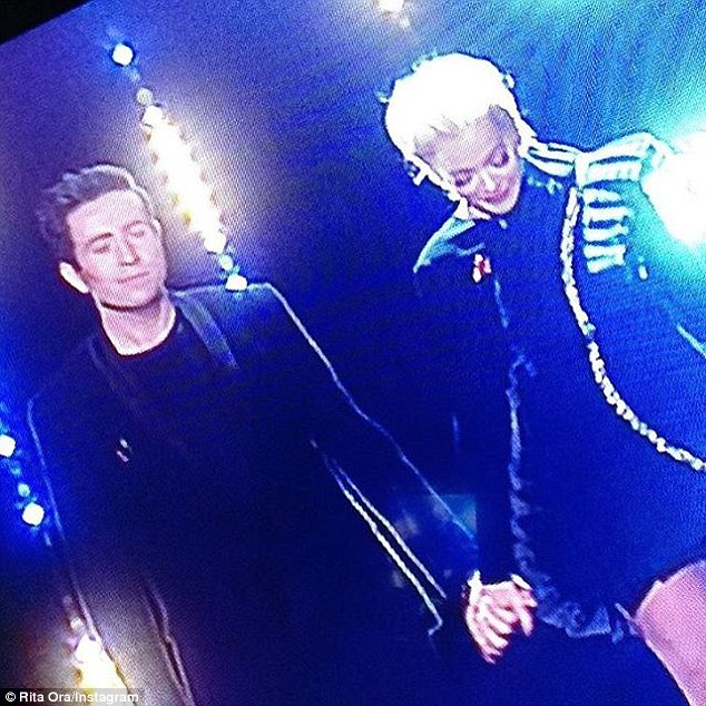 'When your love is on tv with you': Meanwhile, the pop star took to her social media sites to praise her first live X Factor show alongside fellow judge and close pal Nick Grimshaw