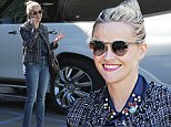 Santa Monica, CA - Reese Witherspoon arriving at a studio in Santa Monica. The actress keeps warm in a tweed jacket. Reese wore a navy blue blouse with embellishments on the collar. \nAKM-GSI        November 3, 2015\nTo License These Photos, Please Contact :\nSteve Ginsburg\n(310) 505-8447\n(323) 423-9397\nsteve@akmgsi.com\nsales@akmgsi.com\nor\nMaria Buda\n(917) 242-1505\nmbuda@akmgsi.com\nginsburgspalyinc@gmail.com