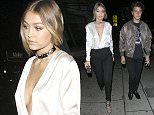 Gigi Hadid arrives to Kendall Jenner Birthday Party!  Pictured: GiGI hadid Ref: SPL1168242  031115   Picture by: Holly Heads LLC / Splash News  Splash News and Pictures Los Angeles: 310-821-2666 New York: 212-619-2666 London: 870-934-2666 photodesk@splashnews.com
