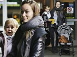 Picture Shows: Otis Sudeikis, Olivia Wilde  November 01, 2015    'The Lazarus Effect' star Olivia Wilde and her son Otis arrive on a flight at YVR Airport in Vancouver, Canada.    Olivia has been rumored to be a frontrunner to land the 'Captain Marvel' role.    Exclusive All Rounder  UK RIGHTS ONLY  Pictures by : FameFlynet UK © 2015  Tel : +44 (0)20 3551 5049  Email : info@fameflynet.uk.com