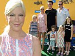 Pictured: Tori Spelling, husband Dean McDermott and Family\nMandatory Credit © Gilbert Flores/Broadimage\nThe Peanuts Movie - Los Angeles Premiere\n\n11/1/15, Westwood, CA, United States of America\n\nBroadimage Newswire\nLos Angeles 1+  (310) 301-1027\nNew York      1+  (646) 827-9134\nsales@broadimage.com\nhttp://www.broadimage.com\n
