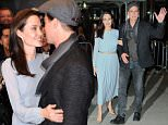 Brad Pitt and Angelina Jolie depart the DGA theater smiling in NYC  Pictured: Brad Pitt, Angelina Jolie Ref: SPL1168613  031115   Picture by: Jackson Lee/Splash News  Splash News and Pictures Los Angeles: 310-821-2666 New York: 212-619-2666 London: 870-934-2666 photodesk@splashnews.com