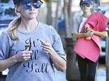 Picture Shows: Reese Witherspoon  November 04, 2015\n \n Actress and busy mom Reese Witherspoon is seen heading to a yoga class in Los Angeles, California.\n \n Rumors are swirling that Reese may make 'Legally Blonde 3'.\n \n Non Exclusive\n UK RIGHTS ONLY\n \n Pictures by : FameFlynet UK © 2015\n Tel : +44 (0)20 3551 5049\n Email : info@fameflynet.uk.com