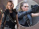 BRITISH SUPER MODEL CARA DELEVINGNE PLAYS A KILLER SOLDIER, AS SHE GUNS DOWN CASUAL GAMER KEVIN IN CALL OF DUTY BLACK OPS ADVERT.  MICHAEL B JORDAN WATCHES AND NARRATES  DELEVINGNE LOOKS THE IMAGE OF ANGELINA JOLIE'S LARA CROFT IN TOMB RAIDER.