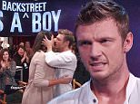 """2 November 2015-NYC-USA  **** STRICTLY NOT AVAILABLE FOR USA ***Backstreet Boy Nick Carter must not have known his night could have gotten any better when he got a perfect score 30 out of 30 from the judges on Dancing with the Stars - that was until it was revealed live on air that he and his wife are expecting a baby BOY! Carter danced during the 'Icon' week to songs he dedicated to his pregnant wife Lauren. A clearly emotional Carter fought back tears when he finished his dance and immediately went into the audience to give his wife a kiss. After the judges comments, host Tom Bergeron told Lauren to go to the red room with Nick for his scores. Explaining to co-host Erin Andrews why he was so emotional, Carter said: """"Number one i just wanted to do a good job for her number one. And number two i just, its been tough for me along the way because you know i have been in my head and very technical and i just let it all go tonight and just see what could happen in the dance and sorry im j"""