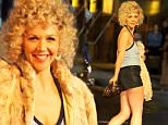 """Maggie Gyllenhaal pictured filming a scene where she plays a prostitute at """"The Deuce"""" set in Times Square, Manhattan.\n\nPictured: Maggie Gyllenhaal\nRef: SPL1168330  031115  \nPicture by: Jose Perez / Splash News\n\nSplash News and Pictures\nLos Angeles: 310-821-2666\nNew York: 212-619-2666\nLondon: 870-934-2666\nphotodesk@splashnews.com\n"""