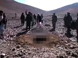 Afghan officials said Rokhsahana (her image pixelated) was stoned to death about a week ago in a Taliban-controlled area just outside Firozkoh