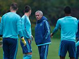 COBHAM, ENGLAND - NOVEMBER 03:  Chelsea manager Jose Mourinho talks to John Terry during a Chelsea training session, ahead of the UEFA Champions League Group G match between Chelsea and Dynamo Kiev, at Chelsea Training Ground on November 3, 2015 in Cobham, England.  (Photo by Mike Hewitt/Getty Images)