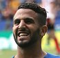 LEICESTER, ENGLAND - AUGUST 08:  Riyad Mahrez of City celebrates his second goal during the Barclays Premier League match between Leicester City and Sunderland at The King Power Stadium on August 8, 2015 in Leicester, England. (Photo by Marc Atkins/Mark Leech Photography via Getty Images)