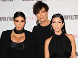 Mandatory Credit: Photo by Startraks Photo/REX Shutterstock (5231454ag).. Kim Kardashian, Kris Jenner, Kourtney Kardashian.. Cosmopolitan Magazine's 50th Birthday Celebration, Los Angeles, America - 12 Oct 2015.. Cosmopolitan's 50th Birthday Celebration..