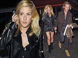 Ellie Goulding spending the evening having dinner at Sexy Fish restaurant in Mayfair. Featuring: Ellie Goulding, Dougie Poynter Where: London, United Kingdom When: 04 Nov 2015 Credit: WENN.com