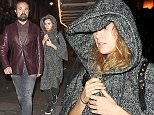 LONDON, ENGLAND - NOVEMBER 06:  Evgeny Lebedev and Suki Waterhouse leave J Sheekey fish restaurant together in Covent Garden on November 6, 2015 in London, England.  (Photo by Keith Hewitt/GC Images)