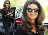 Picture Shows: Maria Shriver  November 06, 2015\n \n Maria Shriver attends a birthday celebration in her honour, held in Bel Air, California. The 60-year-old was all smiles and looking stylish in an all black outfit.\n \n Exclusive All Rounder\n UK RIGHTS ONLY \n Pictures by : FameFlynet UK © 2015\n Tel : +44 (0)20 3551 5049\n Email : info@fameflynet.uk.com