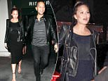 7 Nov 2015 - LOS ANGELES - USA\n*** EXCLUSIVE ALL ROUND PICTURES ***\nMUSICIAN JOHN LEGEND AND HIS PREGNANT WIFE AND FORMER SPORTS ILLUSTRATED MODEL CHRISSY TEIGEN DINED WITH TENNIS GREAT ANDY RODDICK HIS WIFE SPORTS ILLUSTRATED MODEL BROOKLYN DECKER AND THEIR NEWCORN SON HANK DECKER AT MADEO RESTAURANT IN HOLLYWOOD.\nBYLINE MUST READ : XPOSUREPHOTOS.COM\n***UK CLIENTS - PICTURES CONTAINING CHILDREN PLEASE PIXELATE FACE PRIOR TO PUBLICATION ***\n**UK CLIENTS MUST CALL PRIOR TO TV OR ONLINE USAGE PLEASE TELEPHONE  44 208 344 2007**