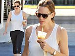 Picture Shows: Jennifer Garner  November 07, 2015\n \n Newly single actress and busy mom Jennifer Garner stops for coffee with a friend after enjoying a workout in Brentwood, California.\n \n Non Exclusive\n UK RIGHTS ONLY\n \n Pictures by : FameFlynet UK © 2015\n Tel : +44 (0)20 3551 5049\n Email : info@fameflynet.uk.com