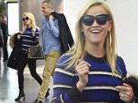 8 Nov 2015 - NEW YORK - USA  REESE WITHERSPOON AND JIM TOTH ARRIVE AT JFK AIRPORT IN NYC.   BYLINE MUST READ : XPOSUREPHOTOS.COM  ***UK CLIENTS - PICTURES CONTAINING CHILDREN PLEASE PIXELATE FACE PRIOR TO PUBLICATION ***  **UK CLIENTS MUST CALL PRIOR TO TV OR ONLINE USAGE PLEASE TELEPHONE  44 208 344 2007 ***
