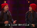 """10 November 2015 - Los Angeles - USA  **** STRICTLY NOT AVAILABLE FOR USA ***  Alanis Morissette updates lyrics for her smash hit Ironic as she duets with James Corden on The Late Late Show.  The singer was joined by Corden to sing the hit - which she had updated for 2015 and now featured ironies about Uber, Tweets, Facebook, Netflix and iPhones. THe pair sang such hilarious lyrics as: """"Someone sends you a Facebook request and you only find out they're racist after you accept,"""" as well as: """"It's Snapchat that you wish you had saved,"""" and: """"It's like Amazon but your package never came.""""   XPOSURE PHOTOS DOES NOT CLAIM ANY COPYRIGHT OR LICENSE IN THE ATTACHED MATERIAL. ANY DOWNLOADING FEES CHARGED BY XPOSURE ARE FOR XPOSURE'S SERVICES ONLY, AND DO NOT, NOR ARE THEY INTENDED TO, CONVEY TO THE USER ANY COPYRIGHT OR LICENSE IN THE MATERIAL. BY PUBLISHING THIS MATERIAL , THE USER EXPRESSLY AGREES TO INDEMNIFY AND TO HOLD XPOSURE HARMLESS FROM ANY CLAIMS, DEMANDS, OR CAUSES OF ACTION ARISING"""